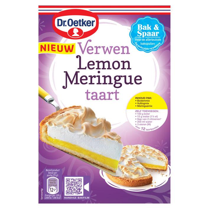 Dr. Oetker Verwen lemon meringue taart