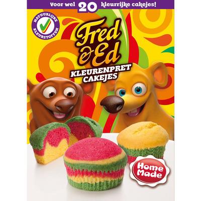 Homemade Fred & Ed kleurenpret cakejesmix