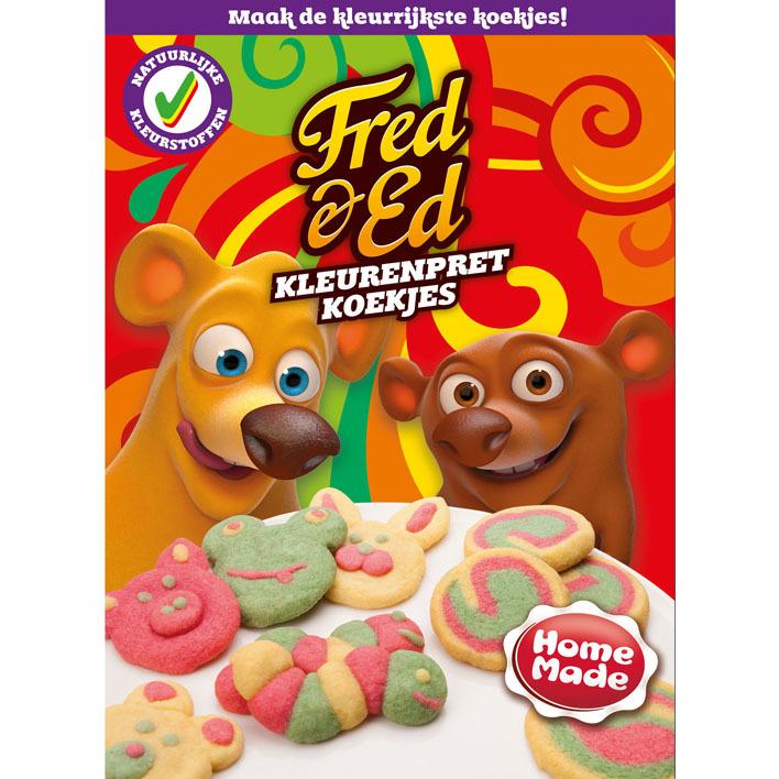 Homemade Fred & Ed kleurenpret koekjesmix
