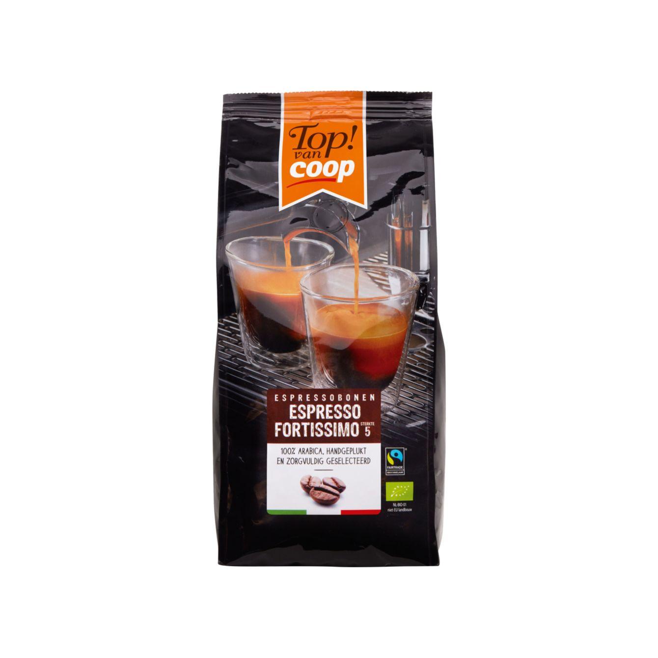 Top! Van Coop Espresso Fortissimo Koffiebonen