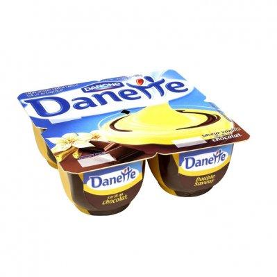 Danone Danette creme dessert vanille/ chocolade