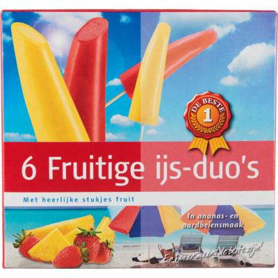 Huismerk Fruitige ijs duo's 6 stuks