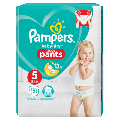 Pampers Baby dry pants junior maat 5