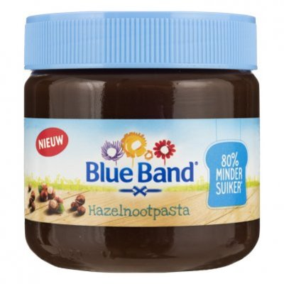 Blue Band Hazelnootpasta minder suiker