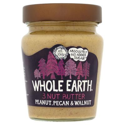Whole Earth 3 Nut butter peanut pecan walnut