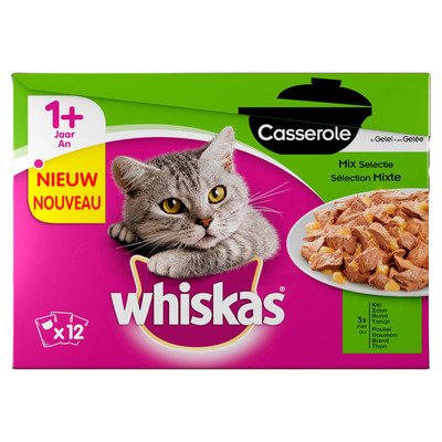 Whiskas Casserole adult mix selectie
