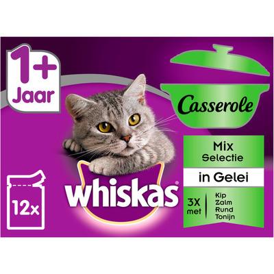 Whiskas Kattenvoer nat mix in gelei 1+ jaar