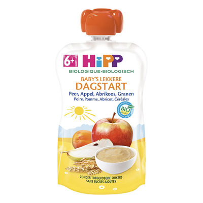Hipp Peer appel abrikoos bio 6 maanden