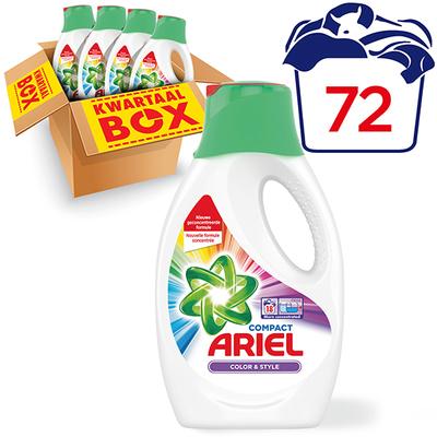 Ariel kleur&stijl vloeibaar kwartaalbox 72 wasbeurten