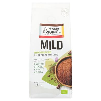 Fairtrade Original Mild Biologische Koffie Snelfiltermaling 250 g