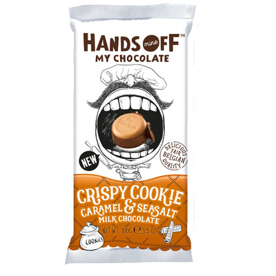 Hands Off Crispy cookie caramel & seasalt milk