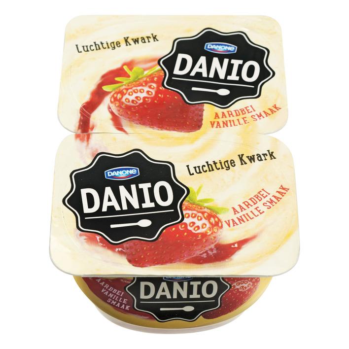 Danone Danio luchtige kwark vanille-aardbei