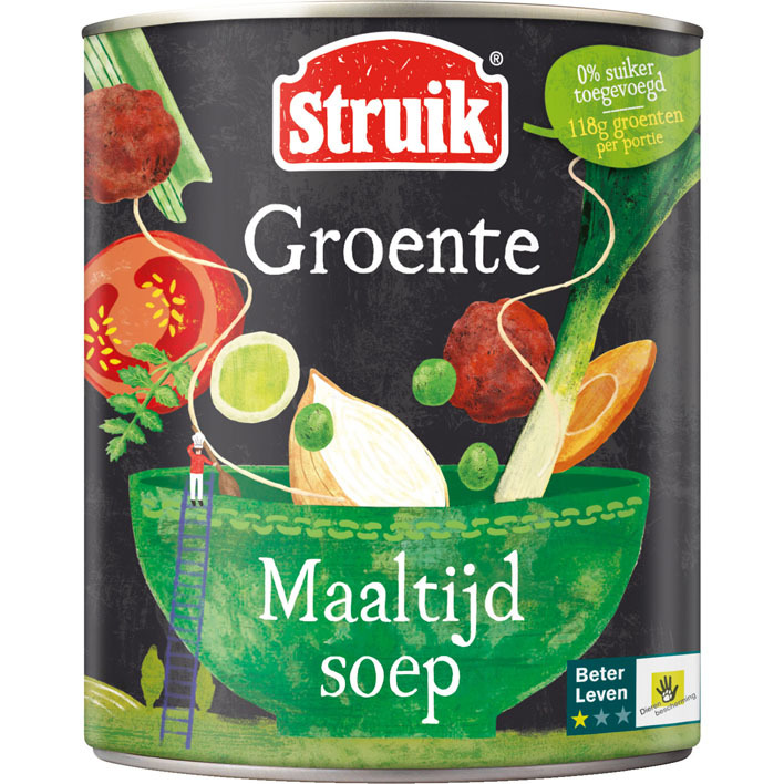 Struik Maaltijdsoep groente