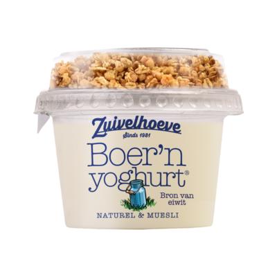 Zuivelhoeve Boer'n Yoghurt Naturel & Muesli