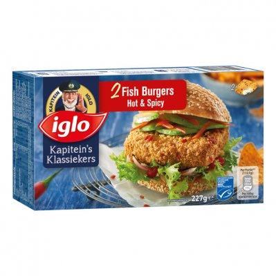 Iglo Fish burger hot & spicy
