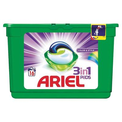 Ariel  Wasmiddel Capsules 3 In 1 Pods Color & Style