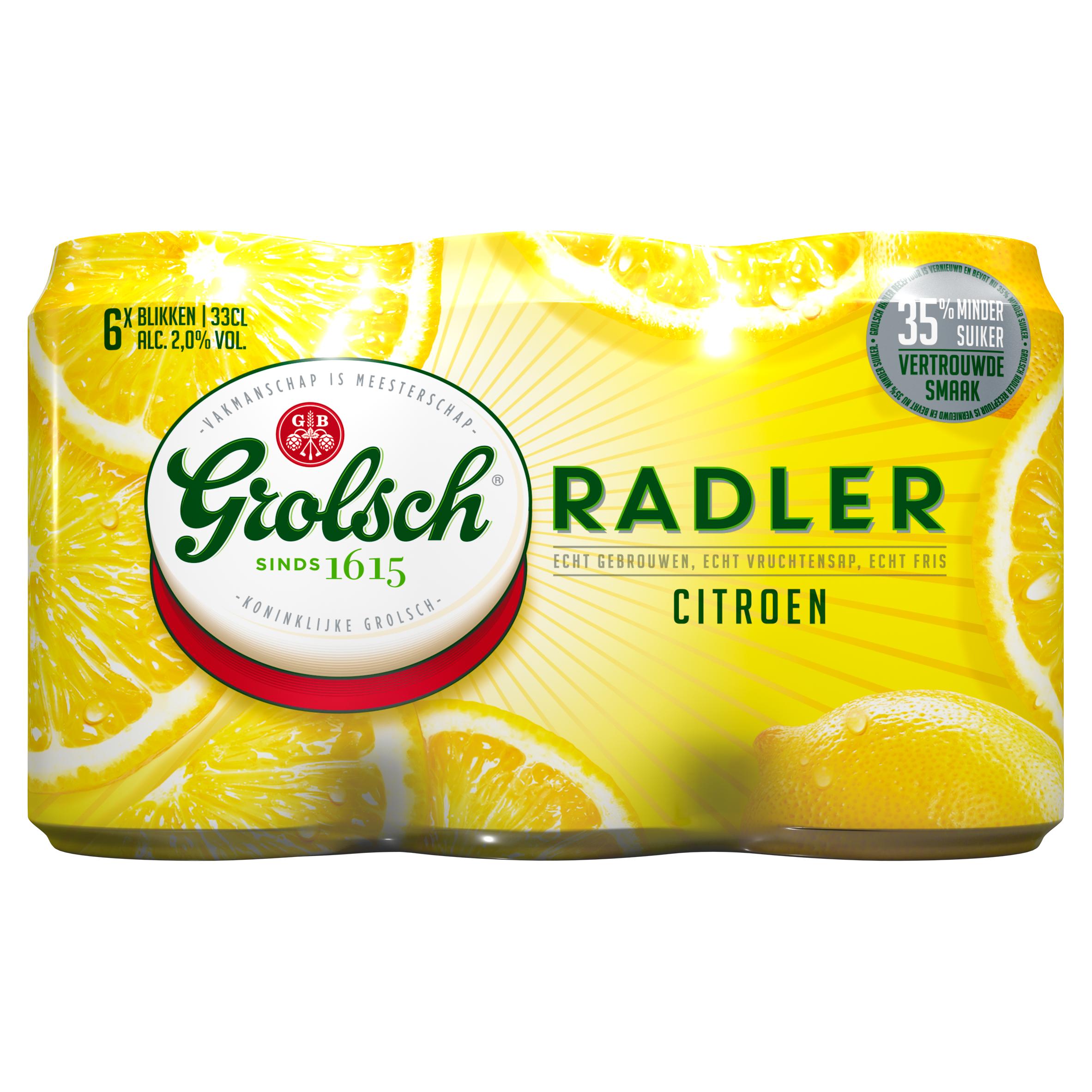 Grolsch Radler Citroen Blik 6 x 33 cl
