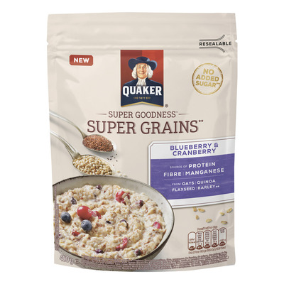 Quaker Super grains blueberry-cranberry