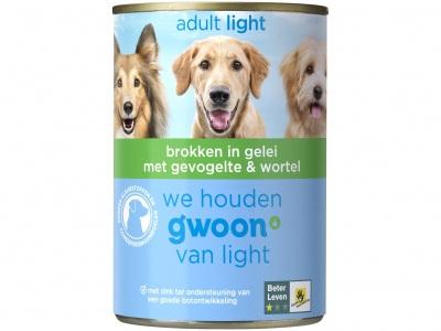 Huismerk Brokken in gelei met gevolgelte & wortel hond