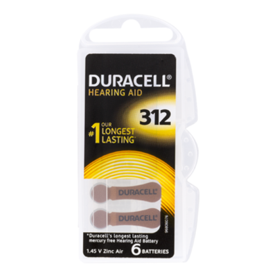 Duracell Batterij hearing aid 312