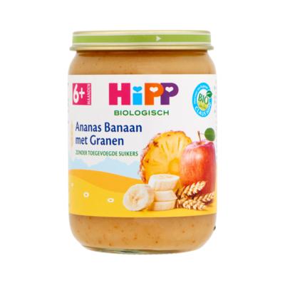 HiPP Biologisch Ananas Banaan met Granen 6+ Maanden