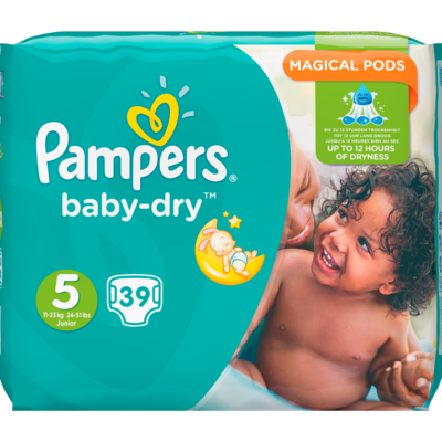 Pampers Baby dry valuepack junior