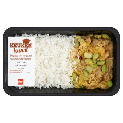 Keukenkunst Gele Thaise Curry met Kip en Rijst 450 g