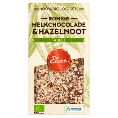 Elvee Chocolade Elvee Melk hazelnoot tablet