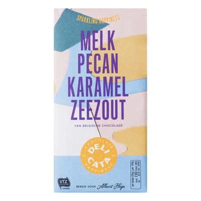 Huismerk Reep melk - pecan - karamel - zeezout
