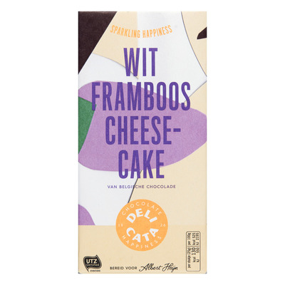 Huismerk Reep wit - framboos - cheesecake