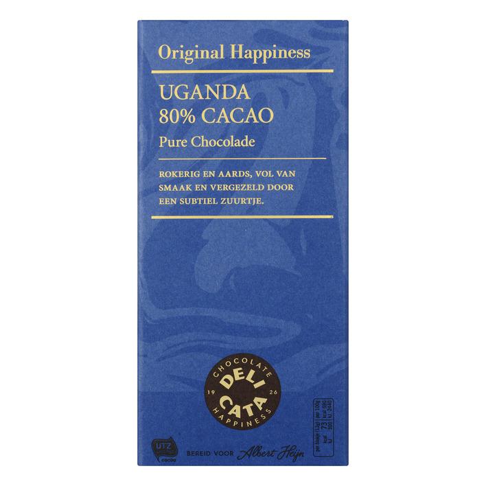 Huismerk Reep pure chocolade Uganda 80%