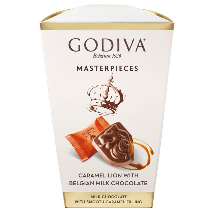 Godiva Masterpieces box caramel lion