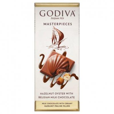 Godiva Masterpieces tablet hazelnut oyster