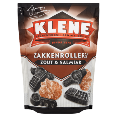Klene Zakkenrollers Zout & Salmiak 250 g