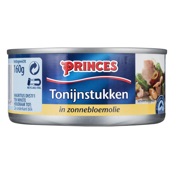 Princes Tonijn stukken in zonnebloemolie