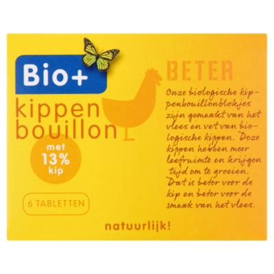 Bio+ Bouillon kip 6 blokjes