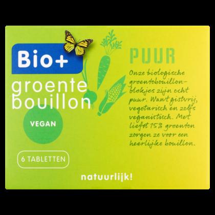 Bio+ Bouillon groente  6 blokjes