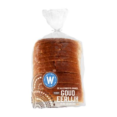 Huismerk Goudeerlijk Witbrood Half (Vers Ingevroren)