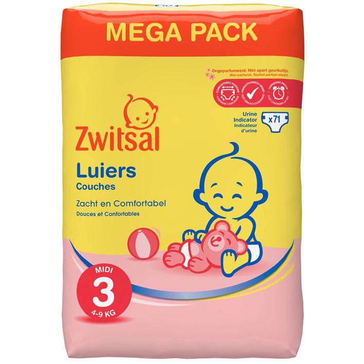 Zwitsal Luiers midi 3 mega pack