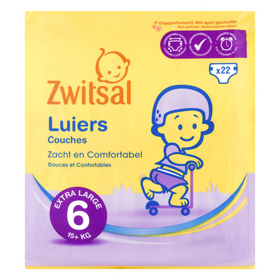 Zwitsal Luiers extra large 6