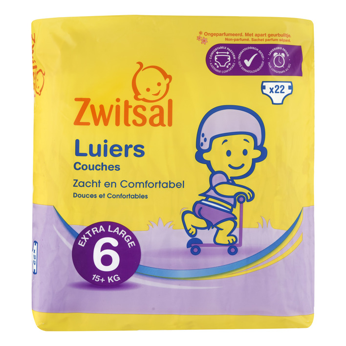 Zwitsal Luiers junior xl maat 6
