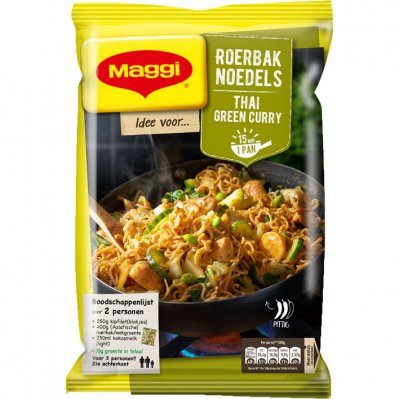 Maggi Roerbak noedel Thai green curry