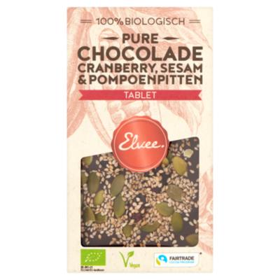 Elvee Chocolade Elvee Puur tablet cranberry