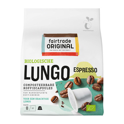 Fairtrade Original Espresso lungo capsules bio
