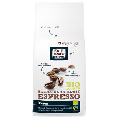 Fairtrade Original Espresso extra dark roast bonen