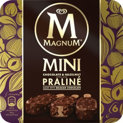 Magnum Hazelnut chocolate praliné mini ijs