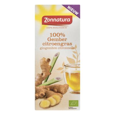 Zonnatura Gember citroengras thee