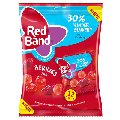 Red Band Berries uitdeelmix suikerbewust