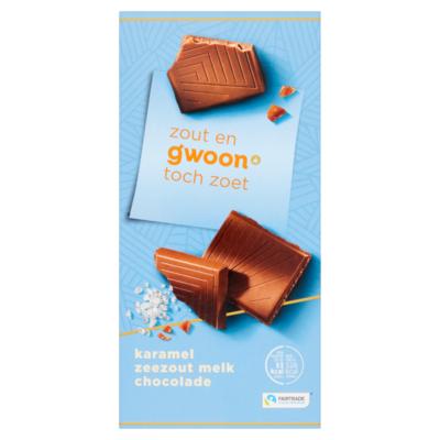 Huismerk Chocoladetablet karamel zeezout