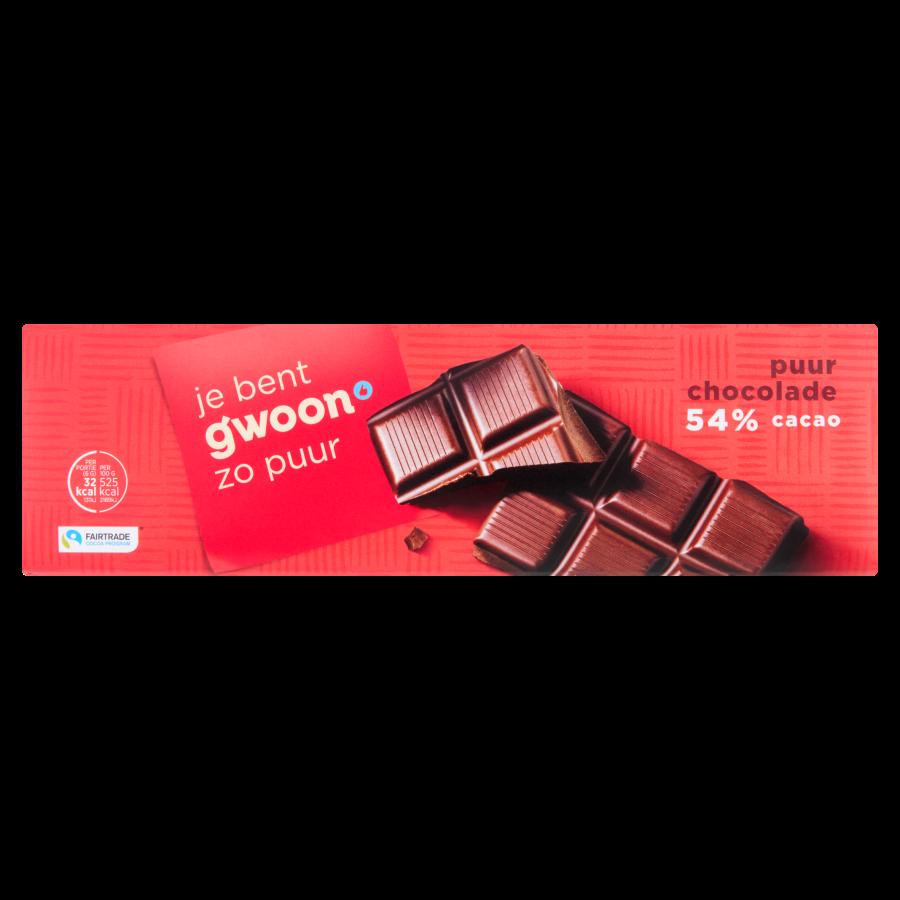 Huismerk Chocoladereep puur